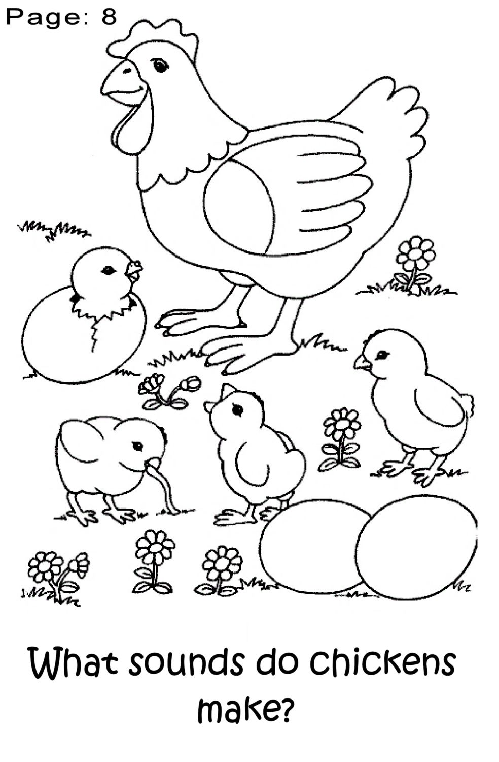 chicken coloring pages for preschoolers - photo#5