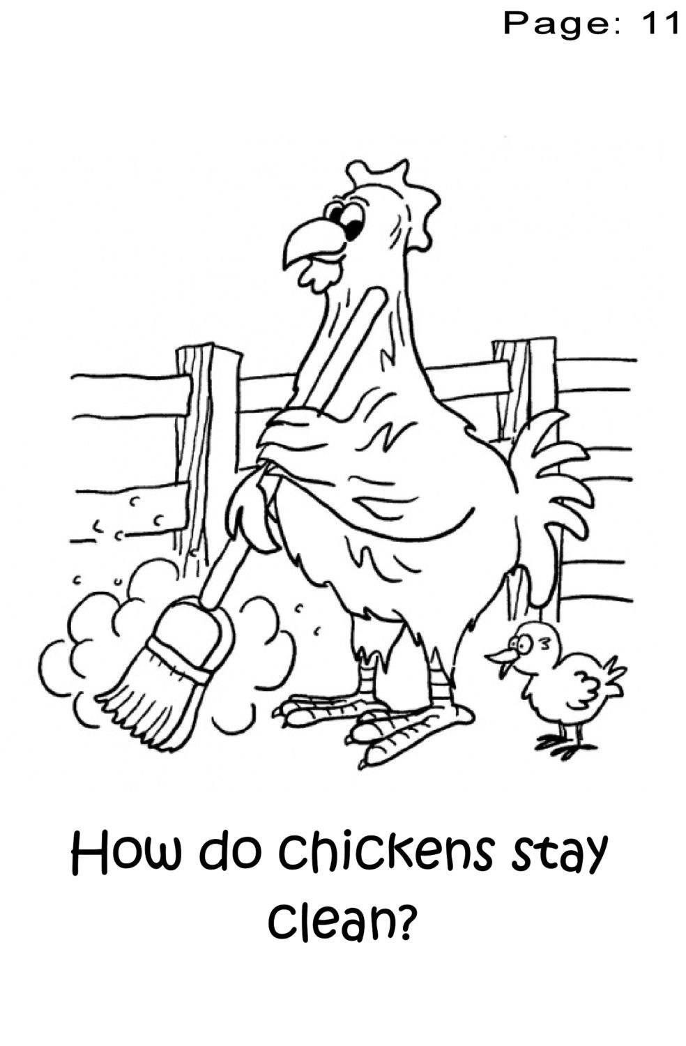 chicken coloring pages for preschoolers - photo#17