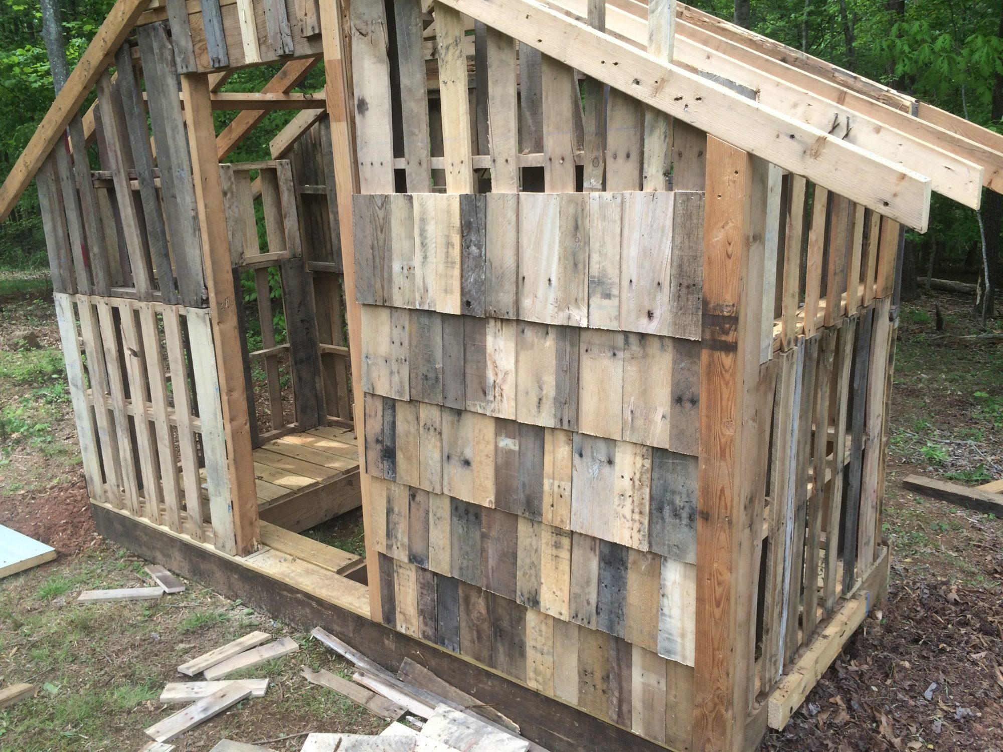 Guide coop pages and member pages tutorial and feedback for How to build a chicken coop from wooden pallets