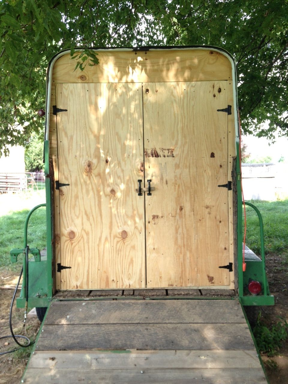 Trailer To Chicken Coop Conversion Aka Quot Cluck Wagon