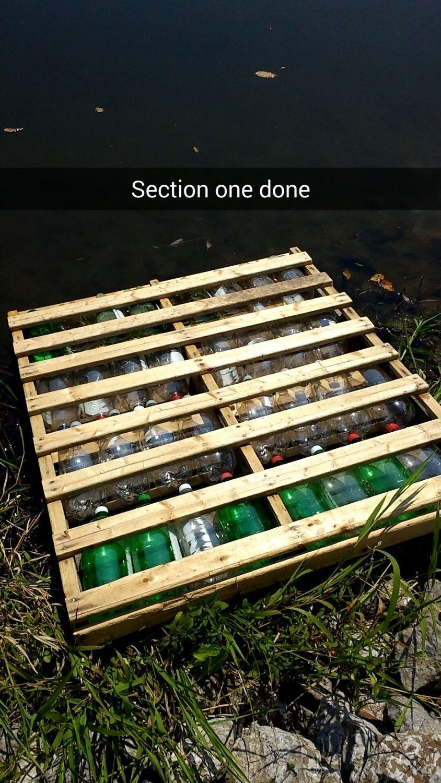 Floating Soda Bottle Pallet Dock