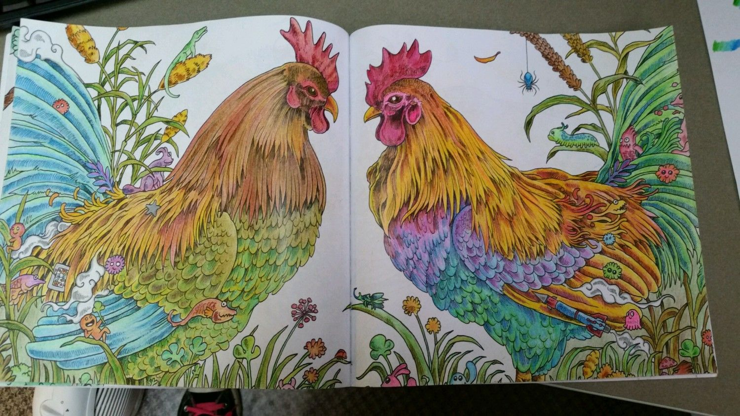 Anyone Like To Color I Found A Cool Chicken Coloring Book