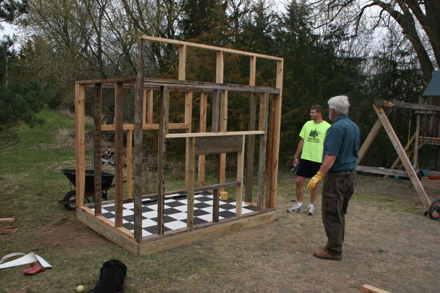 Mn Hardy 7 X8 Chicken Coop With Attached Run Backyard