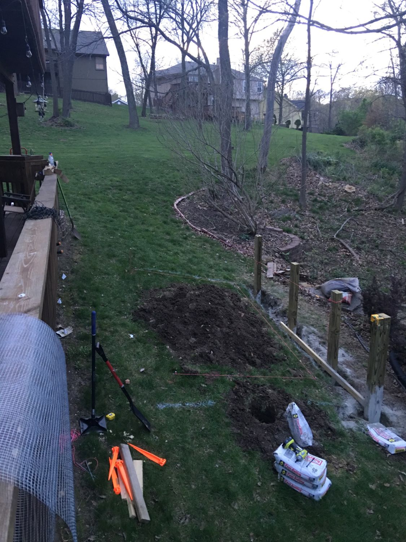 kansas city backyard coop and retaining wall backyard chickens