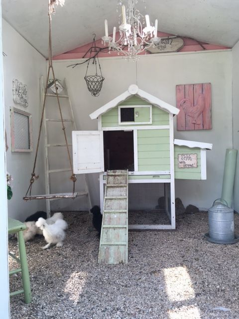 Shabby Chic Coop For Our Silkies Backyard Chickens