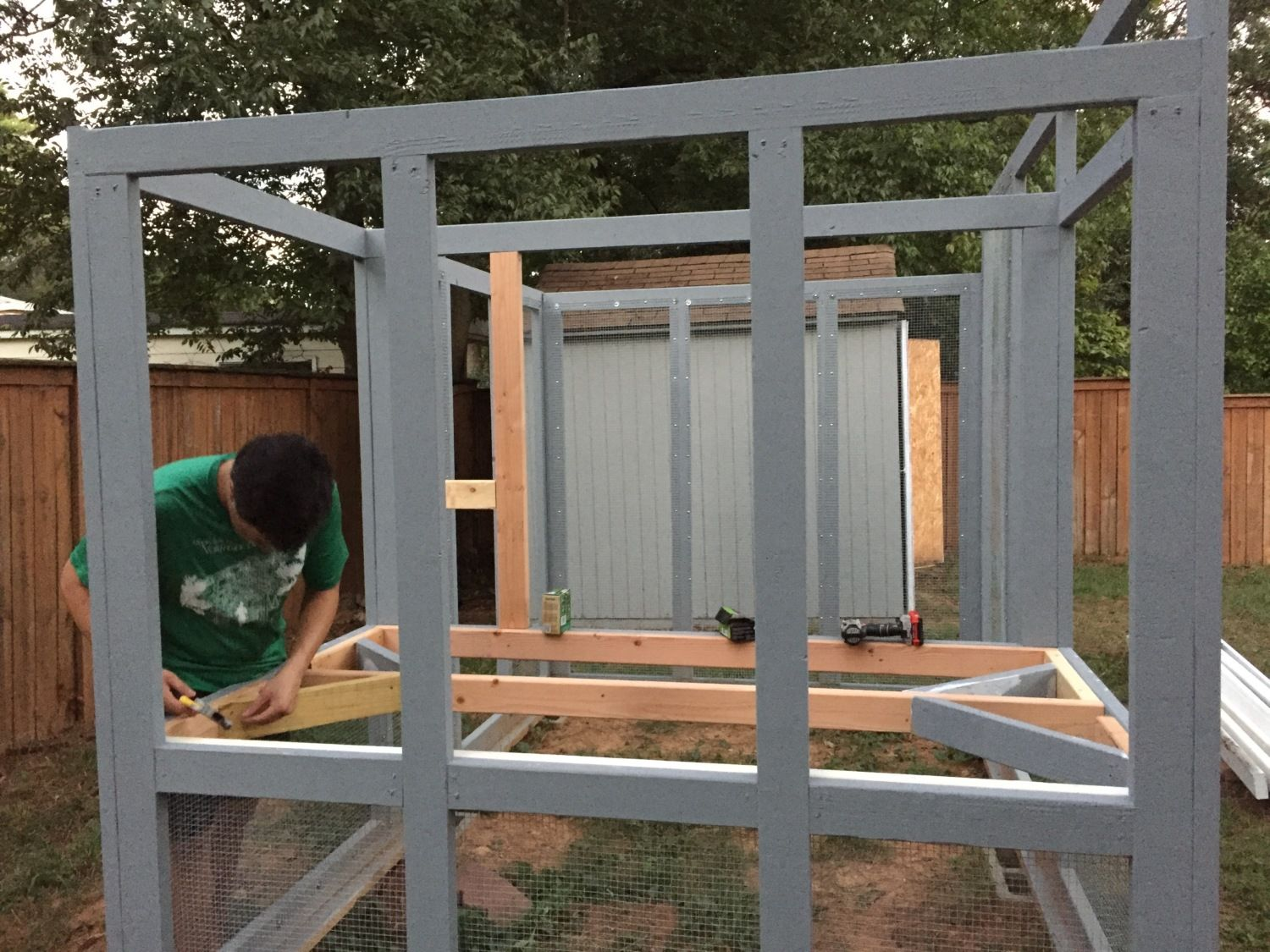 atlanta ga chicken coop building process backyard chickens