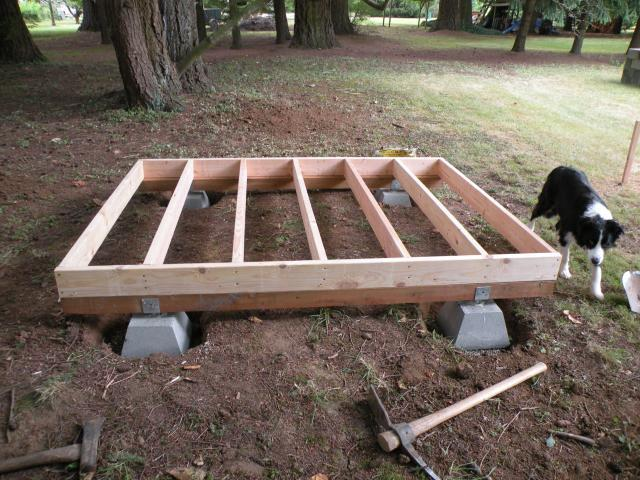 Eggplucker 39 s page backyard chickens for Building a low profile deck