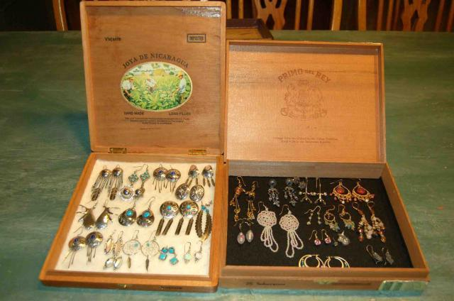 Cheap gift craft jewelry box idea for Cigar boxes for crafts