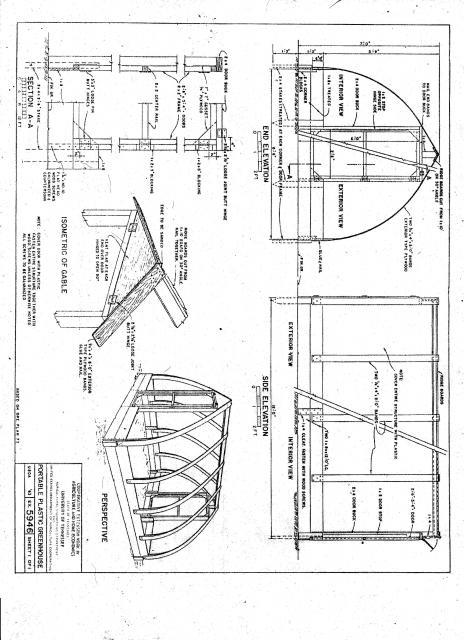 Chicken Run Or Greenhouse Gothic Arch Plans
