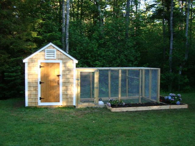 Hennebunkport coop design backyard chickens community for Duck run designs