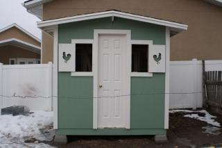 front view of finished coop