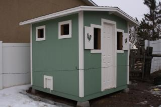side view of finished coop