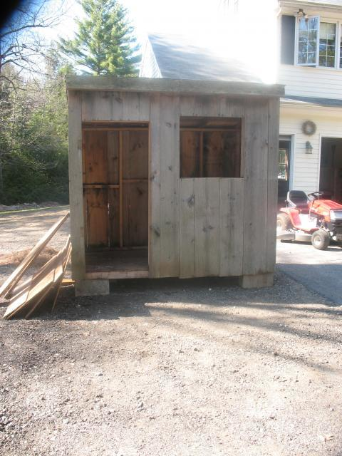 making a chicken coop out of an old shed 2