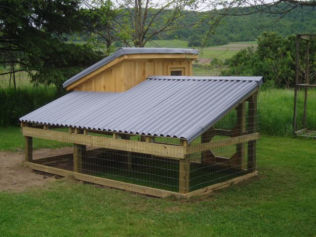 Monk 39 s chicken coop backyard chickens community for How to build a sloped roof shed