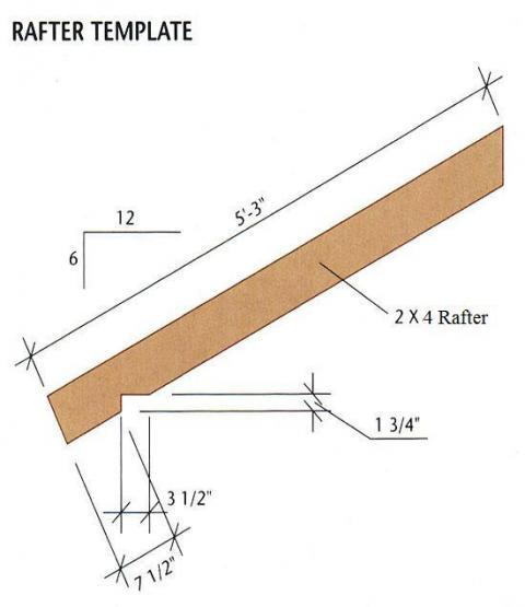how to build wood rafters