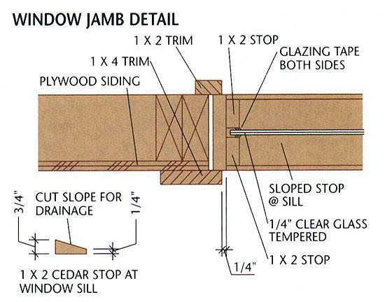 build window jambs wood