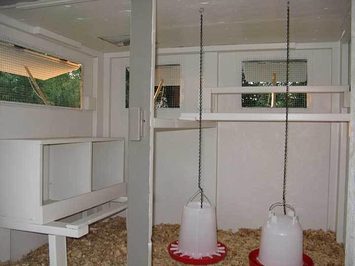 Littlefeat 39 s the feather factory chicken coop backyard for Chicken coop interior designs