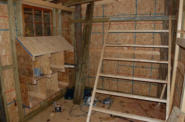Barred rocker 39 s chicken coop backyard chickens community for Chicken coop interior designs