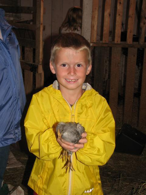 Logan and his chick