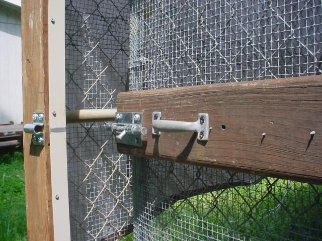 Dog Kennel Coop How To Make Door Area Predator Proof