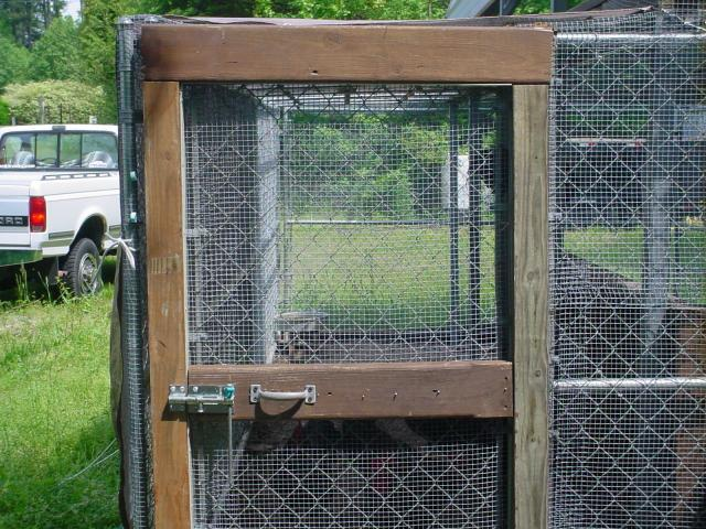 Dog Kennel Coop How To Make Door Area Predator Proof