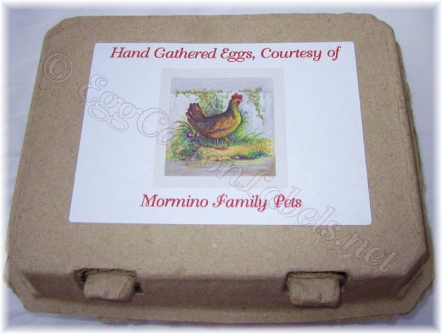 Personalized Egg Carton Labels