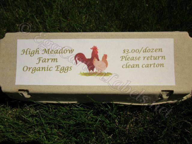 24 custom egg carton labels personalized printed egg for Egg carton labels template