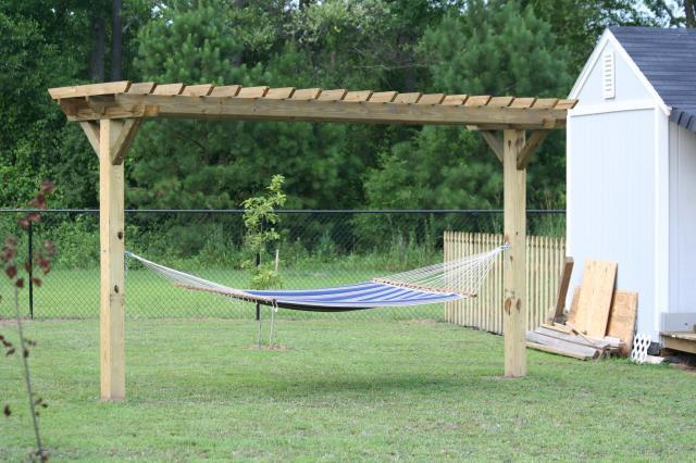 Hammock Stand Designs : How to build hammock arbor pdf plans