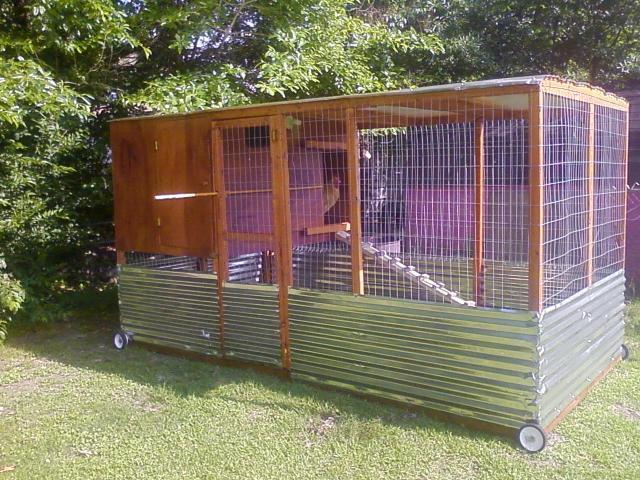 Backyard coop plans for turkey chicken duck for Portable chicken yard