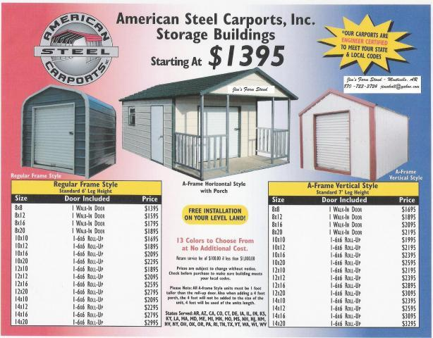 American Steel Carports Updated Prices