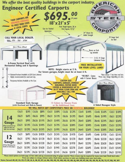 American Steel Carports: Only 10% down payment | BackYard ...