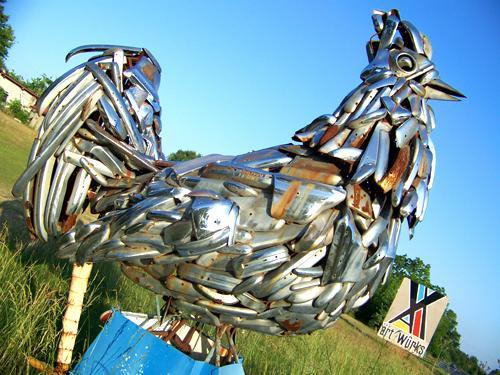 I Want A Big Metal Sculpture Of A Chicken For My Coop
