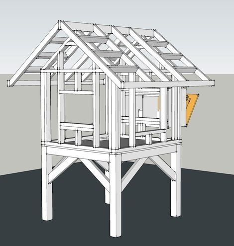 Utility Shed Ridge Beam support cradle - Home Improvement Forum