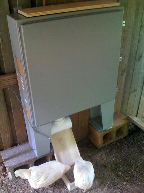 THE ELECTRICAL ENCLOSURE USED FOR THE FEEDER