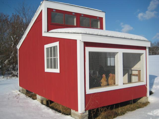 Woods Style House In The Winter Backyard Chickens