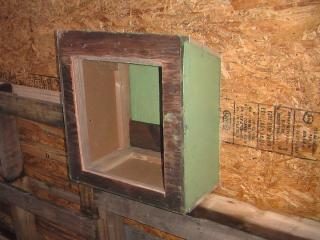 Inside nest box