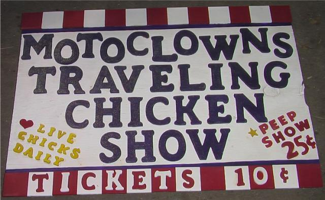 Clown Coop Sign
