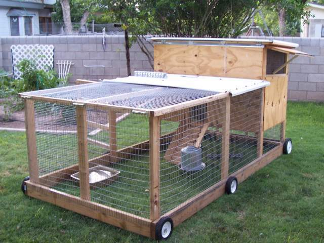 Swing Chicken Tractor Wheels : Plans for chicken tractors coop and plan