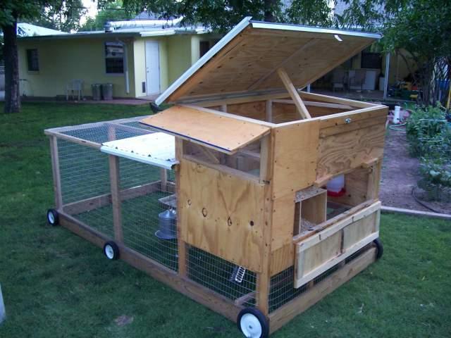 Chicken Tractors On Wheels : Chicken tractor backyard chickens community