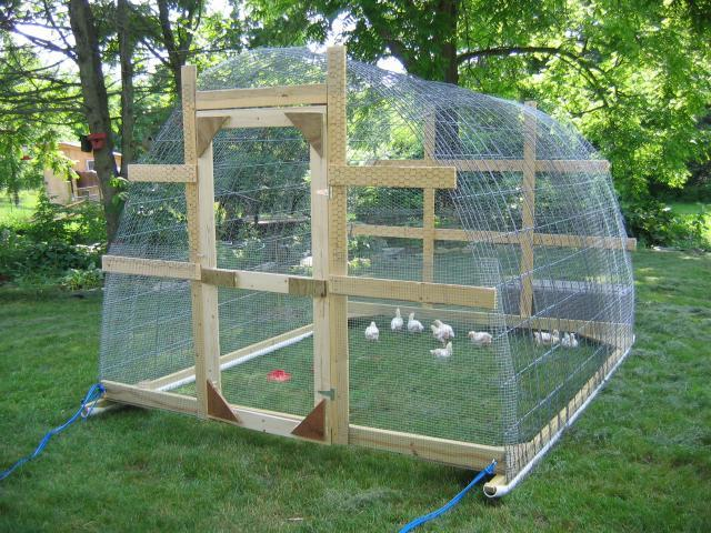 Creativeshelters as well Greenhouse4 2 likewise Hobby Greenhouse Kits By Covering likewise How To Build Your Own Hoop House That Glides Open And Close moreover Chicken Tractor Hoop. on pvc hoop greenhouse plans