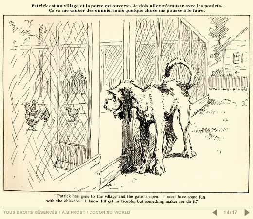 1912 Cartoon about a Dog Having Fun with Chickens | BackYard