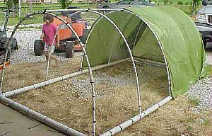using pvc for a hoop house