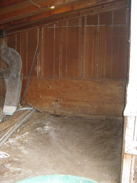 Horse shed being converted to chicken coop