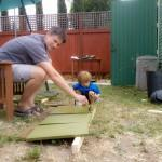 Daddy & K staining coop