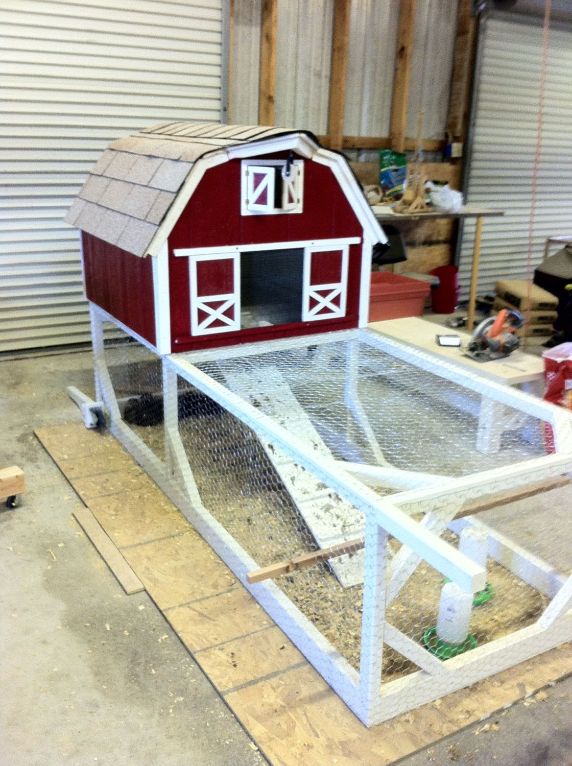 Red barn coop backyard chickens community for Red chicken coop