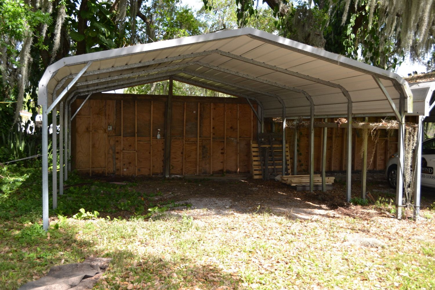 carport to coop run conversion