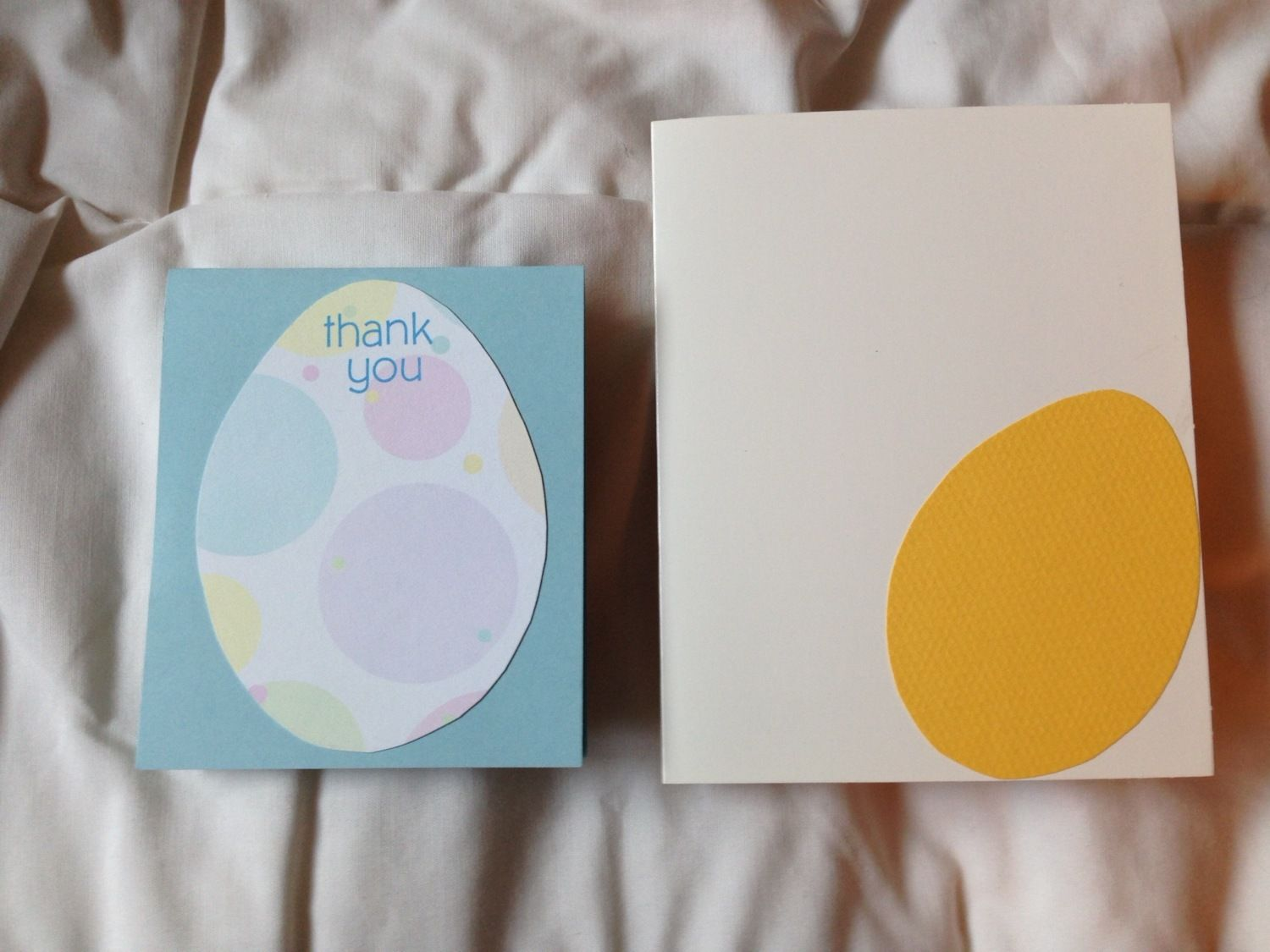 Thank-you cards I made for friends who took care of my hens while I was on a trip