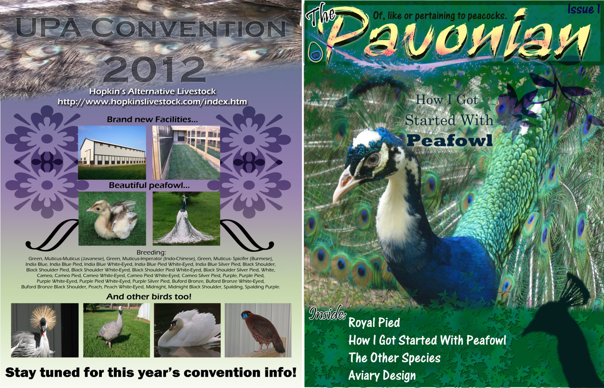 new united peafowl association magazine editor