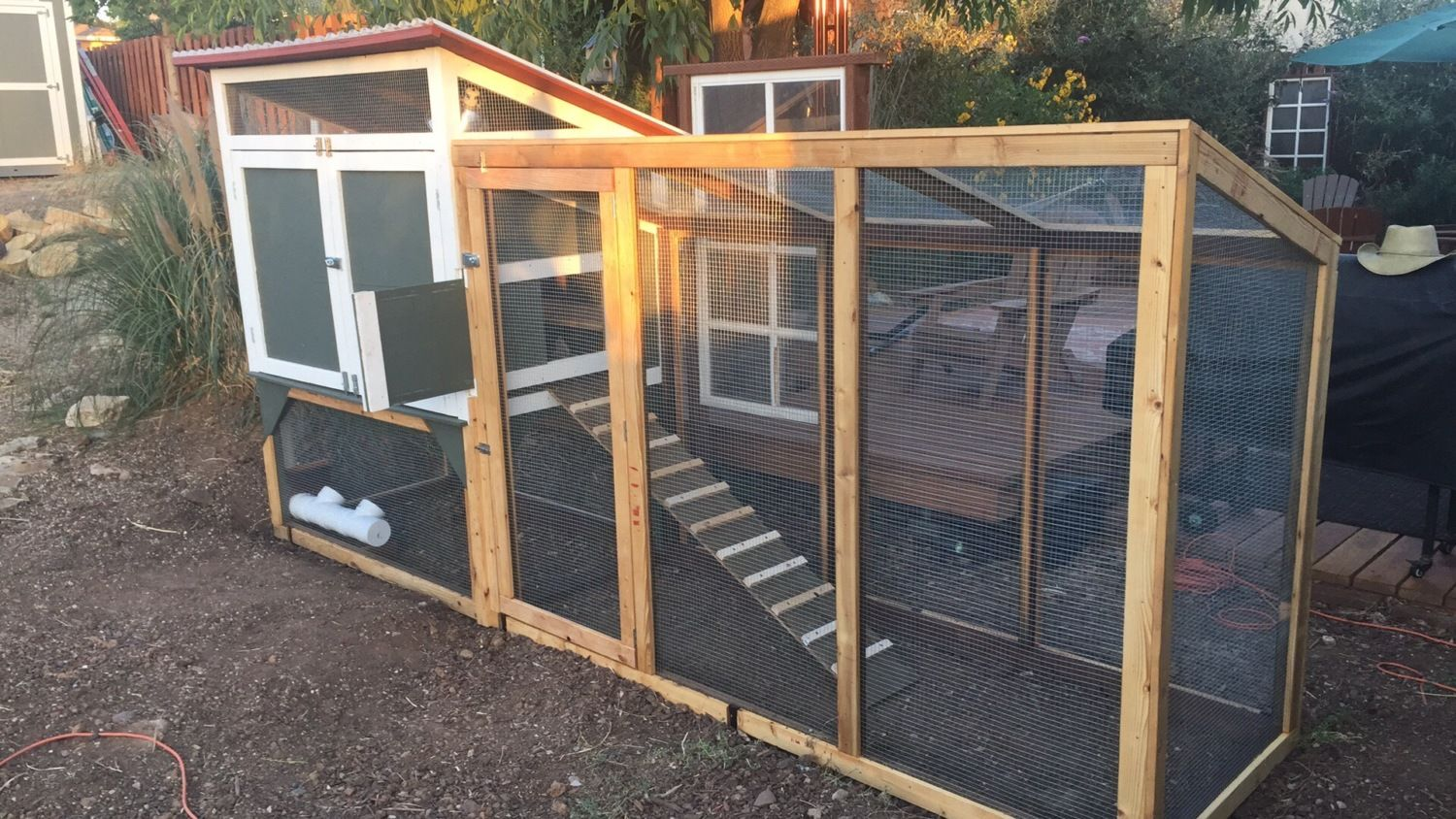 Dean and Tina's Backyard Chicken Coop