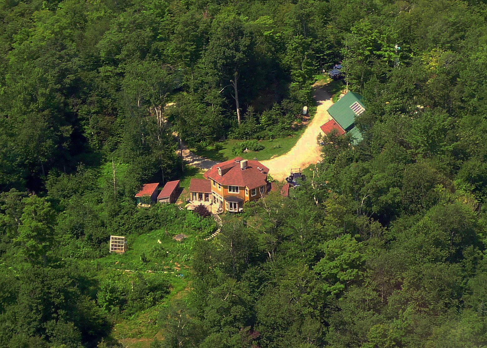 Aerial view of our mountain homestead.